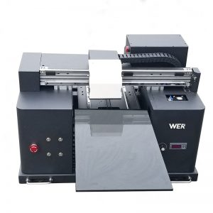2018 УФ-светодиодный планшетный принтер a4 dtg t shirt logo печатная машина для продажи WER-E1080T