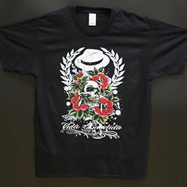 Черный образец печати футболки от цифрового текстильного принтера A1 WER-EP6090T