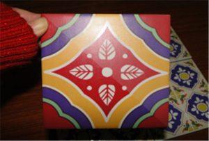Образец керамической плитки, нанесенный на принтер A2 uv WER-D4880UV