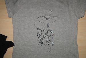 Серый образец для печати футболки от A2 футболка с принтером WER-D4880T