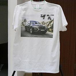 Белый образец печати футболки от A3 футболка принтера WER-E2000T 2