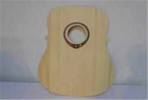 Образец деревянной гитары от УФ-принтера формата A2 WER-DD4290UV